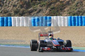 © 2012 Octane Photographic Ltd. Jerez Winter Test Day 4 - Friday 10th February 2012. McLaren MP4/27 - Lewis Hamilton. Digital Ref : 0221lw1d9567