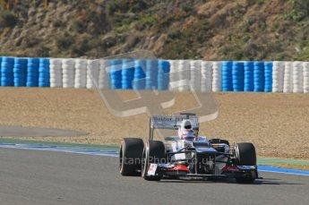 © 2012 Octane Photographic Ltd. Jerez Winter Test Day 4 - Friday 10th February 2012. Sauber C31 - Kamui Kobayashi. Digital Ref : 0221lw1d9581