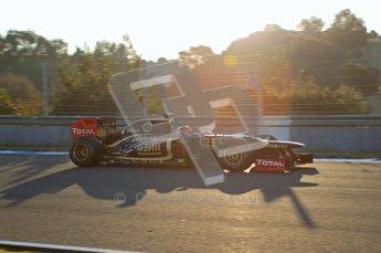 © 2012 Octane Photographic Ltd. Jerez Winter Test Day 4 - Friday 10th February 2012. Lotus E20 - Romain Grosjean. Digital Ref : 0221lw7d4028
