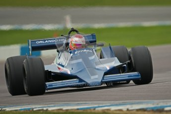 © Octane Photographic Ltd. Masters Racing – Pre-season testing – Donington Park, 5th April 2012. Single-seater classes, Tyrrell , Historic F1. Digital Ref : 0271cb1d0880