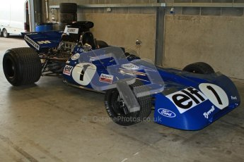 © Octane Photographic Ltd. Masters Racing – Pre-season testing – Donington Park, 5th April 2012. Single-seater classes, Tyrrell , Historic F1. Digital Ref : 0271cb7d6413