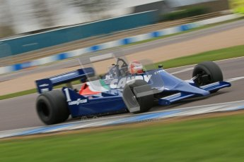 © Octane Photographic Ltd. Masters Racing – Pre-season testing – Donington Park, 5th April 2012. Single-seater classes, Tyrrell , Historic F1. Digital Ref : 0271cb7d6606