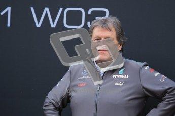 © 2012 Octane Photographic Ltd. Barcelona Winter Test 1 Day 1 - Tuesday 21st February 2012. Mercedes W03 Pit Lane Launch. Digital Ref : 0225lw1d5864