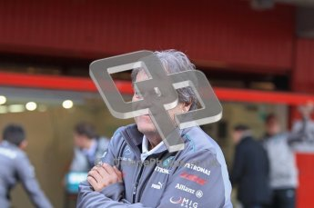 © 2012 Octane Photographic Ltd. Barcelona Winter Test 1 Day 1 - Tuesday 21st February 2012. Mercedes W03 Pit Lane Launch. Digital Ref : 0225lw1d6013