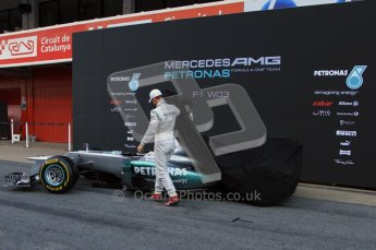 © 2012 Octane Photographic Ltd. Barcelona Winter Test 1 Day 1 - Tuesday 21st February 2012. Mercedes W03 Pit Lane Launch. Digital Ref : 0225lw7d4885