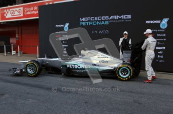 © 2012 Octane Photographic Ltd. Barcelona Winter Test 1 Day 1 - Tuesday 21st February 2012. Mercedes W03 Pit Lane Launch. Digital Ref : 0225lw7d4907