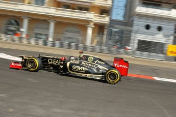 © Octane Photographic Ltd. 2012. F1 Monte Carlo - Practice 3. Saturday 26th May 2012. Kimi Raikkonen - Lotus. Digital Ref : 0354cb1d6389