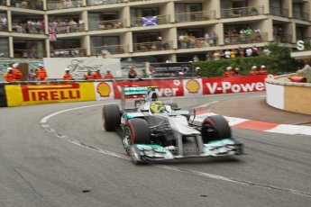 © Octane Photographic Ltd. 2012. F1 Monte Carlo - Race. Sunday 27th May 2012. Nico Rosberg - Mercedes. Digital Ref : 0357cb1d7890