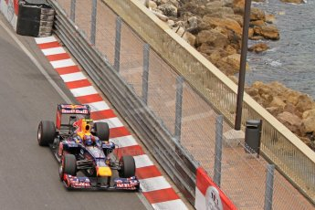 © Octane Photographic Ltd. 2012. F1 Monte Carlo - Race. Sunday 27th May 2012. Mark Webber - Red Bull. Digital Ref : 0357cb7d0003
