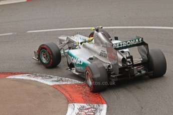© Octane Photographic Ltd. 2012. F1 Monte Carlo - Race. Sunday 27th May 2012. Nico Rosberg - Mercedes. Digital Ref : 0357cb7d0153