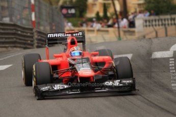 © Octane Photographic Ltd. 2012. F1 Monte Carlo - Race. Sunday 27th May 2012. Timo Glock - Marussia. Digital Ref : 0357cb7d0253