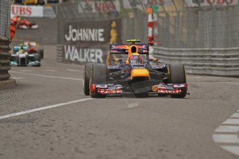 © Octane Photographic Ltd. 2012. F1 Monte Carlo - Race. Sunday 27th May 2012. Mark Webber - Red Bull. Digital Ref : 0357cb7d0421