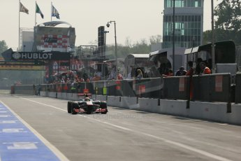 © 2012 Octane Photographic Ltd. Italian GP Monza - Saturday 8th September 2012 - F1 Qualifying. McLaren MP4/27 - Lewis Hamilton. Digital Ref : 0513lw1d1930