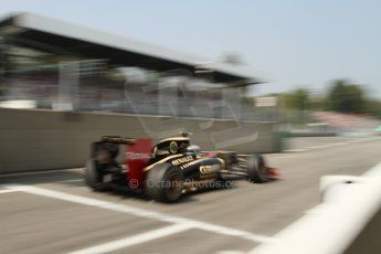 © 2012 Octane Photographic Ltd. Italian GP Monza - Saturday 8th September 2012 - F1 Qualifying. Lotus E20 - Jerome d'Ambrosio. Digital Ref :