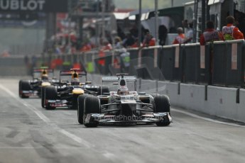 © 2012 Octane Photographic Ltd. Italian GP Monza - Saturday 8th September 2012 - F1 Qualifying. Sauber C31 - Kamui Kobayashi and Red Bull RB8s of Sebastian Vettel and Mark Webber. Digital Ref :