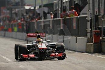 © 2012 Octane Photographic Ltd. Italian GP Monza - Saturday 8th September 2012 - F1 Qualifying. McLaren MP4/27 - Lewis Hamilton. Digital Ref : 0513lw7d8326