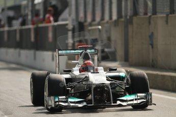 © 2012 Octane Photographic Ltd. Italian GP Monza - Saturday 8th September 2012 - F1 Qualifying. Mercedes W03 - Michael Schumacher. Digital Ref :