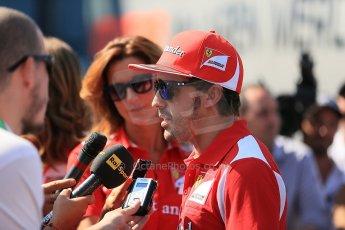World © Octane Photographic Ltd. Formula 1 Italian GP, Press Conference 6th September 2012 - Fernando Alonso - Ferrari. Digital Ref : 0494lw1d9117