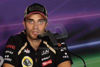 World © Octane Photographic Ltd. Formula 1 Italian GP, Press Conference 6th September 2012 - Jerome d'Ambrosio - Lotus. Digital Ref : 0494lw7d5272