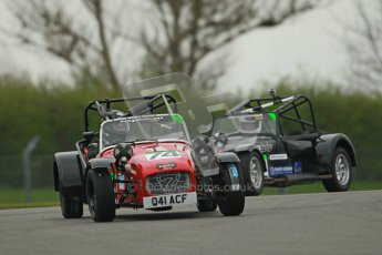 © Octane Photographic Ltd. Motors TV day – Donington Park,  Saturday 31st March 2012. Caterham Graduates - Mega and Classic classes. Digital ref : 0267cb1d9527