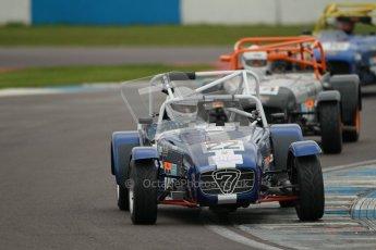 © Octane Photographic Ltd. Motors TV day – Donington Park, Saturday 31st March 2012. Caterham Graduates - Mega and Classic classes. Peter Marsh. Digital ref : 0267cb1d9533