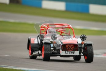 © Octane Photographic Ltd. Motors TV day – Donington Park,  Saturday 31st March 2012. Caterham Graduates – Super and Sigma classes. Digital ref : 0269cb1d0278