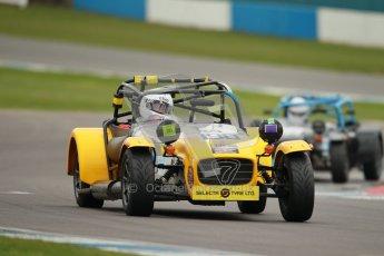 © Octane Photographic Ltd. Motors TV day – Donington Park, Saturday 31st March 2012. Caterham Graduates – Super and Sigma classes. Digital ref : 0269cb1d0283