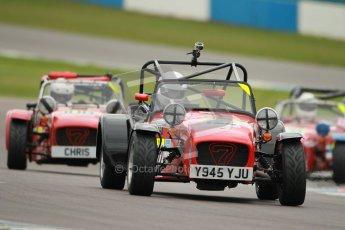 © Octane Photographic Ltd. Motors TV day – Donington Park, Saturday 31st March 2012. Caterham Graduates – Super and Sigma classes. Digital ref : 0269cb1d0318