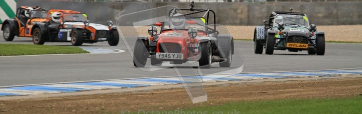 © Octane Photographic Ltd. Motors TV day – Donington Park,  Saturday 31st March 2012. Caterham Graduates – Super and Sigma classes. Digital ref : 0269lw7d8701