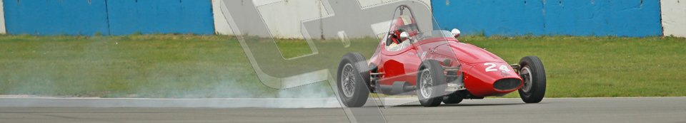 © Octane Photographic Ltd. Motors TV day – Donington Park,  Saturday 31st March 2012. Formula Junior 2nd session, Michael Waller - PM Poggi. Digital ref : 0268cb1d0093