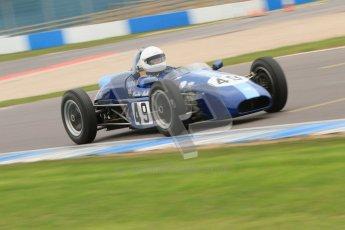 © Octane Photographic Ltd. Motors TV day – Donington Park,  Saturday 31st March 2012. Formula Junior 2nd session, Phoebe Rolt - Elva 200. Digital ref : 0268cb7d6314