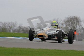 © Octane Photographic Ltd. Motors TV day – Donington Park,  Saturday 31st March 2012. Formula Junior 2nd session, John Truslove - Brabham BT6. Digital ref : 0268lw7d8273