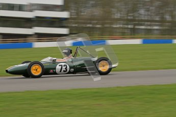 © Octane Photographic Ltd. Motors TV day – Donington Park,  Saturday 31st March 2012. Formula Junior 2nd session, Peter Anstiss - Lotus 20/22. Digital ref : 0268lw7d8342
