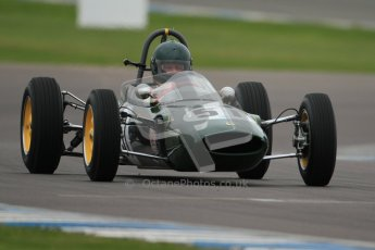 © Octane Photographic Ltd. Motors TV day – Donington Park,  Saturday 31st March 2012. Formula Junior Free practice, Michael Hibberd - Lotus 27. Digital ref : 0264cb7d5498