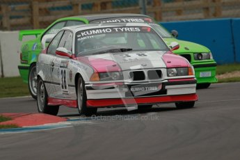 © Octane Photographic Ltd. Motors TV day – Donington Park, Saturday 31st March 2012. Kumho BMW Championship, Smith and Jones - Mark Smith - BMW E30 M3 and John Jones - BMW 328is. Digital ref : 0266cb1d9374