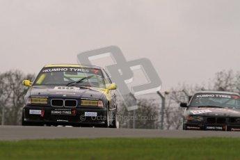 © Octane Photographic Ltd. Motors TV day – Donington Park,  Saturday 31st March 2012. Kumho BMW Championship, James Ford - BMW 318ti. Digital ref : 0266lw7d7556