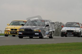 © Octane Photographic Ltd. Motors TV day – Donington Park, Saturday 31st March 2012. Kumho BMW Championship, Peter Miller - BMW E36 328is and Richard Marsh - BMW E30 M3. Digital ref : 0266lw7d7589