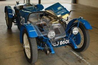 © Octane Photographic Ltd. Motors TV day – Donington Park,  Saturday 31st March 2012. VSCC Pre-War Sportscars, James Potter - Riley Brooklands. Digital ref : 0265cb1d8881