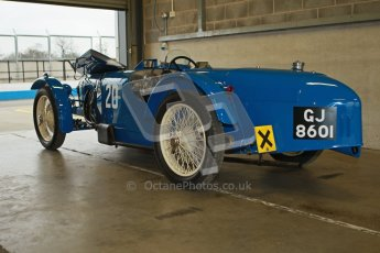 © Octane Photographic Ltd. Motors TV day – Donington Park,  Saturday 31st March 2012. VSCC Pre-War Sportscars, James Potter - Riley Brooklands. Digital ref : 0265cb1d8883