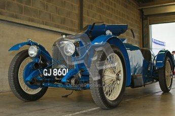 © Octane Photographic Ltd. Motors TV day – Donington Park, Saturday 31st March 2012. VSCC Pre-War Sportscars, James Potter - Riley Brooklands. Digital ref : 0265cb1d8888