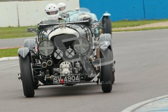 © Octane Photographic Ltd. Motors TV day – Donington Park,  Saturday 31st March 2012. VSCC Pre-War Sportscars, Nigel Batchelor - Bentley 4 1/2 Blower. Digital ref : 0265cb1d9070