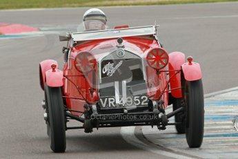 © Octane Photographic Ltd. Motors TV day – Donington Park,  Saturday 31st March 2012. VSCC Pre-War Sportscars, Robin Toone - Alfa Romeo 1750. Digital ref : 0265cb1d9118