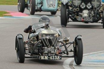 © Octane Photographic Ltd. Motors TV day – Donington Park, Saturday 31st March 2012. VSCC Pre-War Sportscars, Sue Derbeyshire - Morgan Super Aero. Digital ref : 0265cb1d9128