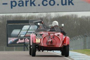 © Octane Photographic Ltd. Motors TV day – Donington Park, Saturday 31st March 2012. VSCC Pre-War Sportscars, Roger Buxton - Alfa Romeo 6C Zagato Spyder. Digital ref : 0265cb1d9213