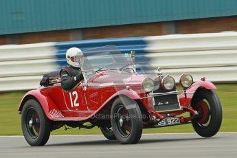 © Octane Photographic Ltd. Motors TV day – Donington Park, Saturday 31st March 2012. VSCC Pre-War Sportscars, Roger Buxton - Alfa Romeo 6C Zagato Spyder. Digital ref : 0265cb1d9219