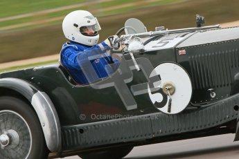 © Octane Photographic Ltd. Motors TV day – Donington Park,  Saturday 31st March 2012. VSCC Pre-War Sportscars, Trevor Swete - Invicta S Type. Digital ref : 0265cb7d5794
