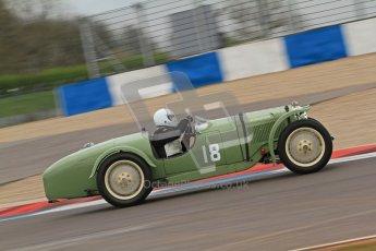 © Octane Photographic Ltd. Motors TV day – Donington Park, Saturday 31st March 2012. VSCC Pre-War Sportscars, David Lamb - Riley Brooklands. Digital ref : 0265cb7d5828