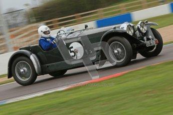 © Octane Photographic Ltd. Motors TV day – Donington Park,  Saturday 31st March 2012. VSCC Pre-War Sportscars, Trevor Swete - Invicta S Type. Digital ref : 0265cb7d5838