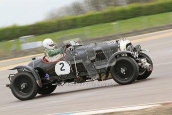 © Octane Photographic Ltd. Motors TV day – Donington Park, Saturday 31st March 2012. VSCC Pre-War Sportscars, Nigel Batchelor - Bentley 4 1/2 Blower. Digital ref : 0265cb7d5860