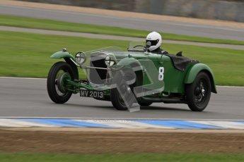 © Octane Photographic Ltd. Motors TV day – Donington Park, Saturday 31st March 2012. VSCC Pre-War Sportscars, Joshua Beebee - Frazer Nash TT rep. Digital ref : 0265lw7d7092